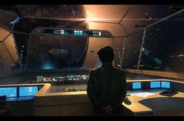 Legend of Galactic Heroes - Hyperion Bridge by Hideyoshi