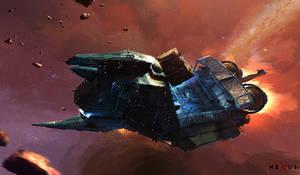 NEXUS - Space Barge 'Cutter' by Hideyoshi
