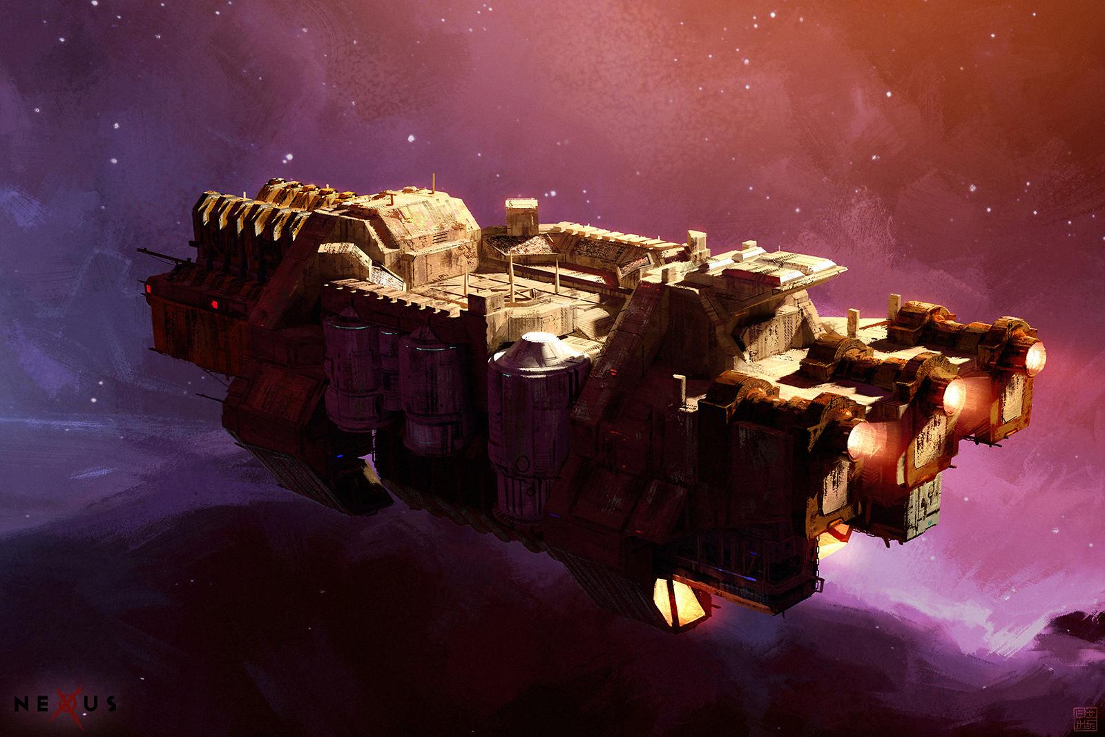 NEXUS - Crate - Space Barge by Hideyoshi