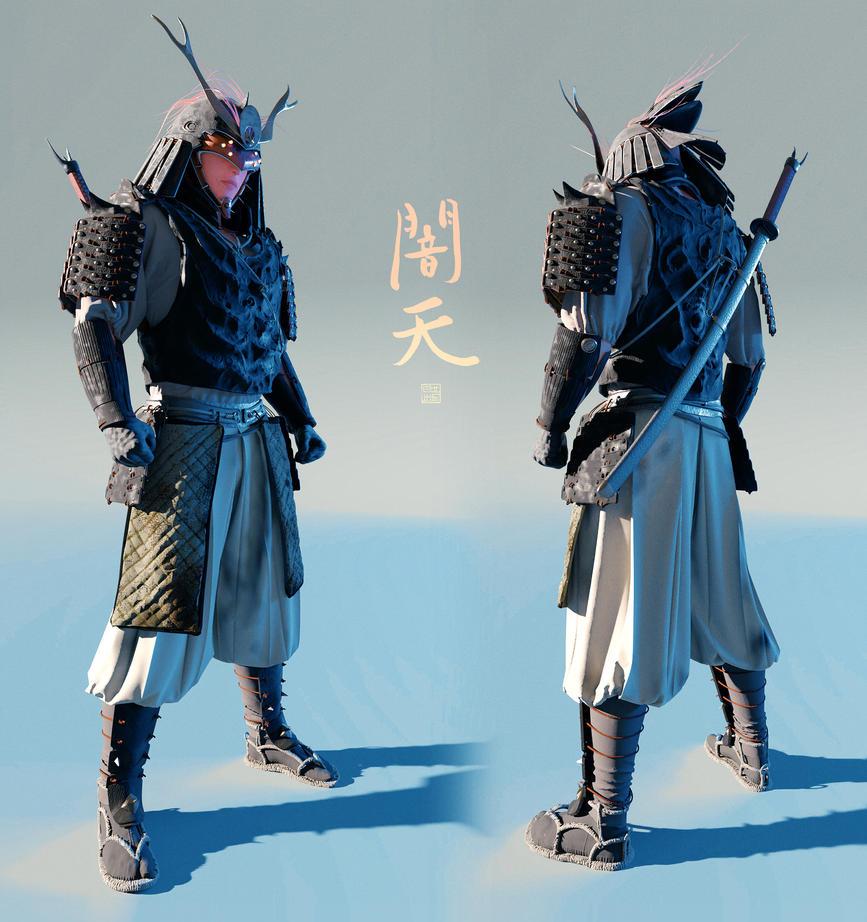 Yamiten - 3D concept - full body by Hideyoshi