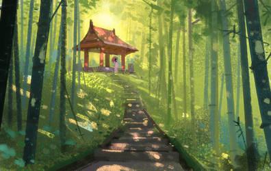 Ancient Shrine by Hideyoshi