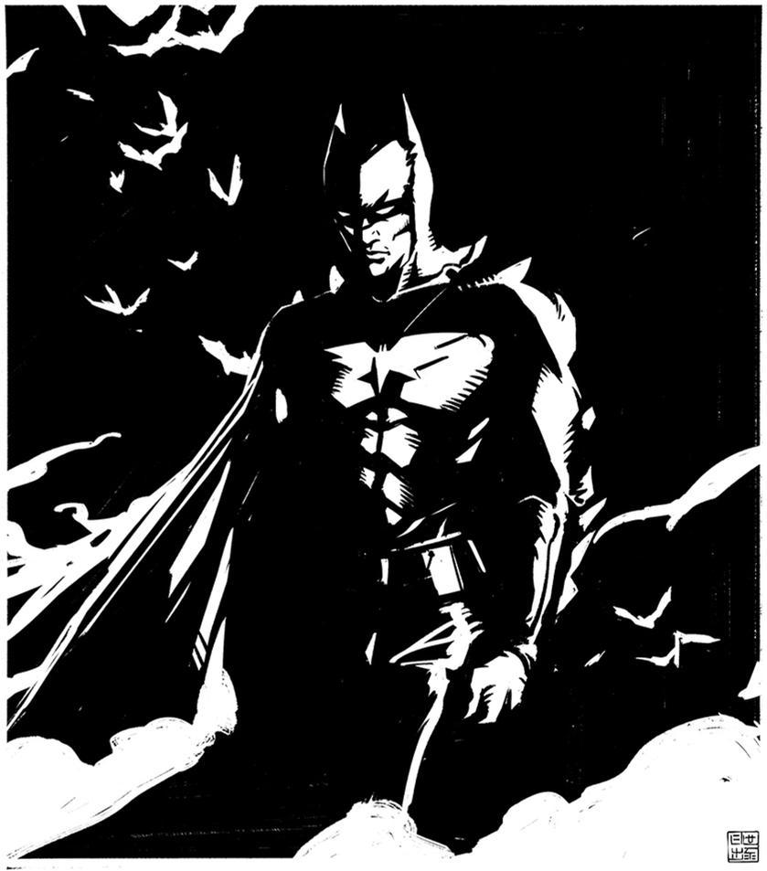 Batman - Inktober by Hideyoshi