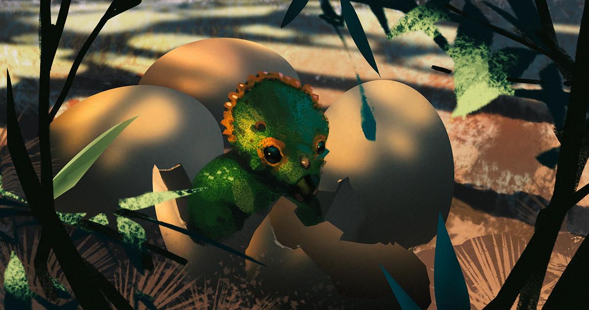 Triceratops Baby by Hideyoshi