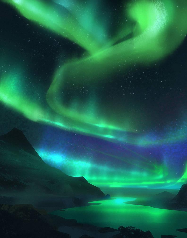 Far North - Aurora Borealis by Hideyoshi