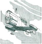 Inktober - Retro Spaceship