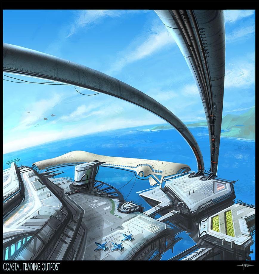 Coastal Trading Outpost by Hideyoshi