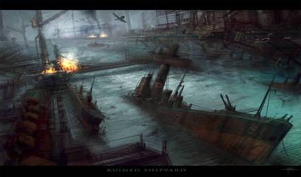 Ruined Shipyard by Hideyoshi