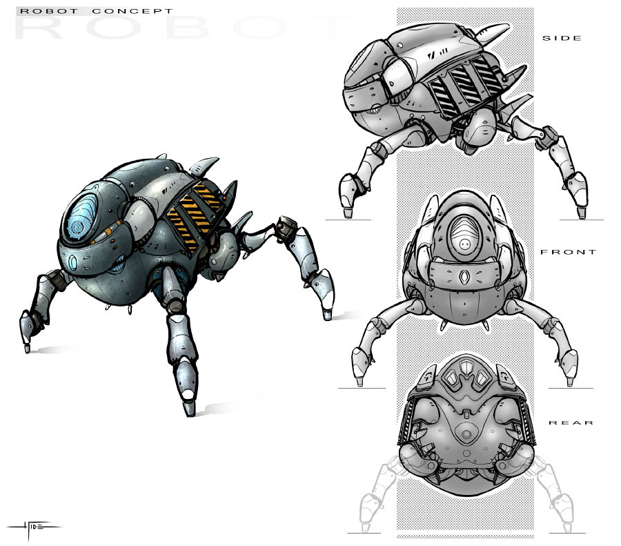 Robot concept by Hideyoshi