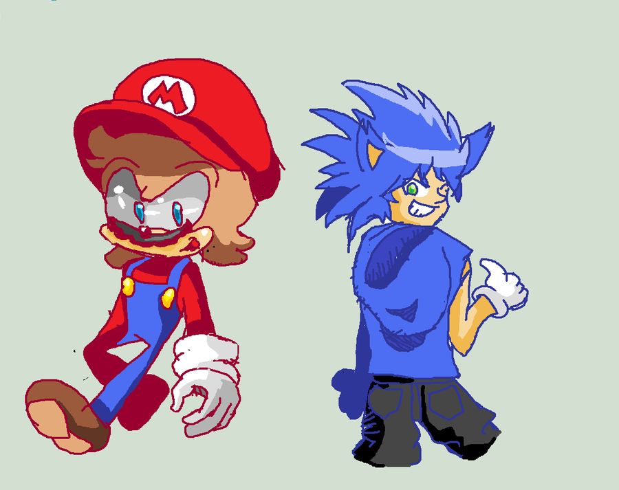 Limpurtikles Mario Colored: Mario And Sonic Change Colored By Supermarioguy On DeviantArt