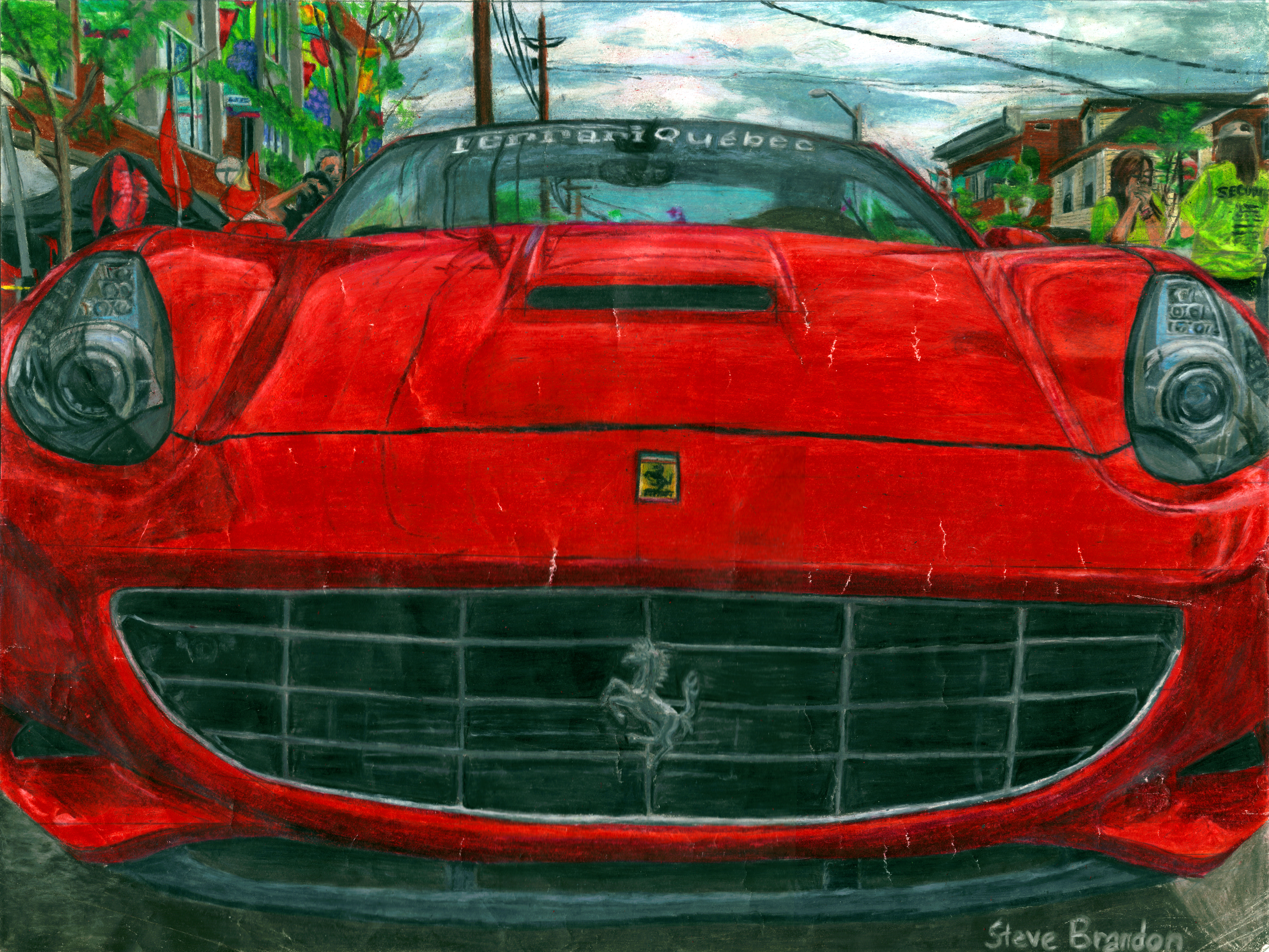 Prismacolor Ferrari California by stevebrandon