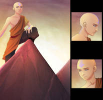 Sketchbook Project - Pg 1 Aang by AnimantX