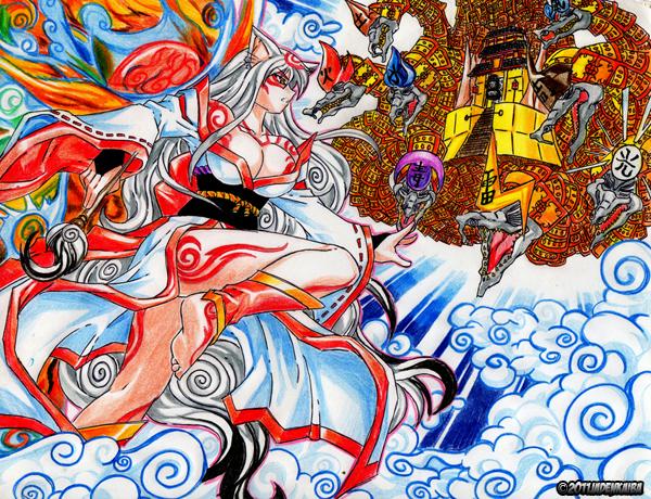 Commission  Okami Vs Orochi by jadenkaibaOkami Yami Human