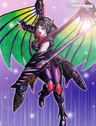 Commission:Rose - Dragoon Form by jadenkaiba