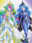 Commission: Celestia X Luna