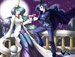 Commission: Celestia and Luna