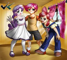 Commission : Cutie Mark Crusaders by jadenkaiba