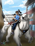 Commission: Avatar Korra in the City