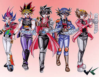 Commission: Yugioh Boys by jadenkaiba