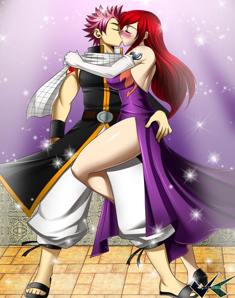 Commission: Erza Scarlet X Natsu Dragneel by jadenkaiba on