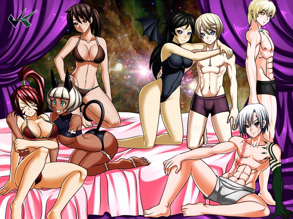 Commission : Kirinochi Harems - Bikini by jadenkaiba