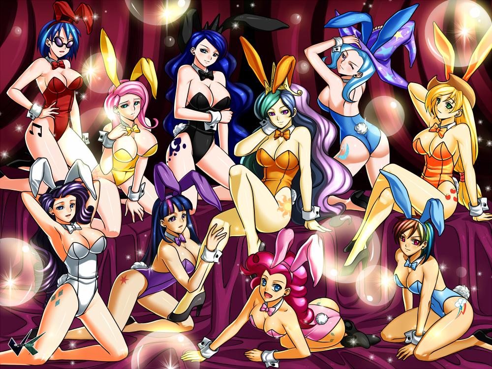 Commission: MLP Bunny Bikini Girls by jadenkaiba
