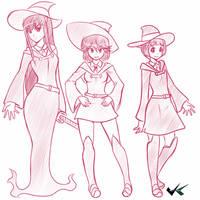 Sketch - Kill la Kill X Little Witch Academia