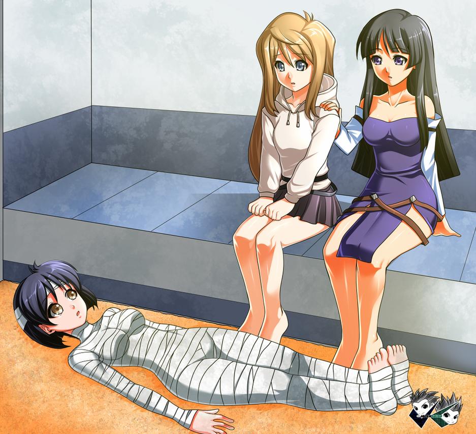 COMMISSION: JusticeGundam - Aoba,Akao, and Satsuki by jadenkaiba