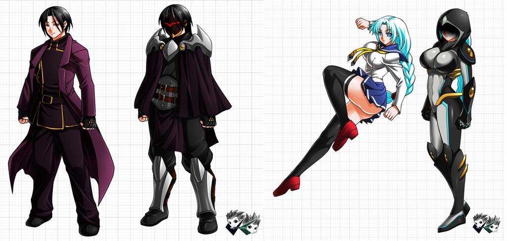 Commission: Black Diamond Clan Characters by jadenkaiba