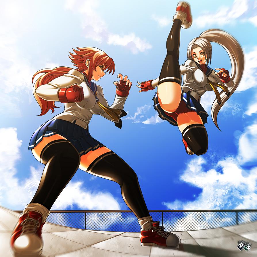 COMMISSION : Yui VS Sera by jadenkaiba