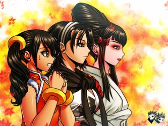 FAN ART : Tekken Waifus by jadenkaiba