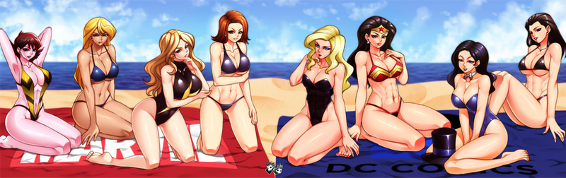 COMMISSION : MARVEL VS DC at The Beach