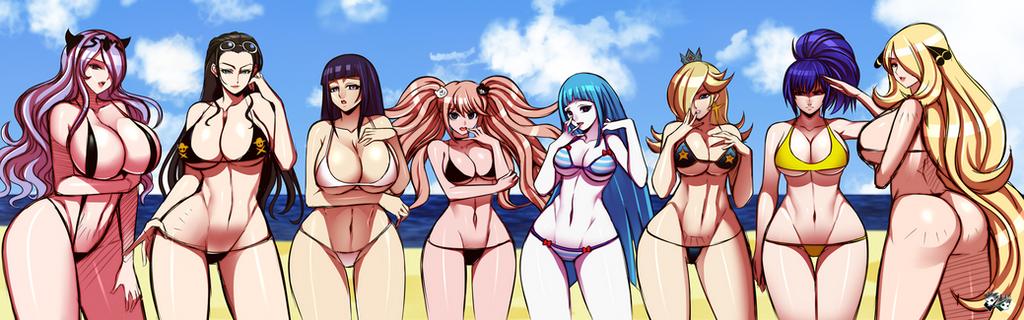 QUICK SKETCH - Anime and Game Bikini Girls by jadenkaiba