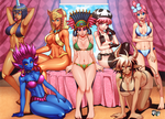 COMMISSION : Enducer51 Bikini Harems