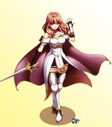 Fire Emblem Echoes - Celica by jadenkaiba