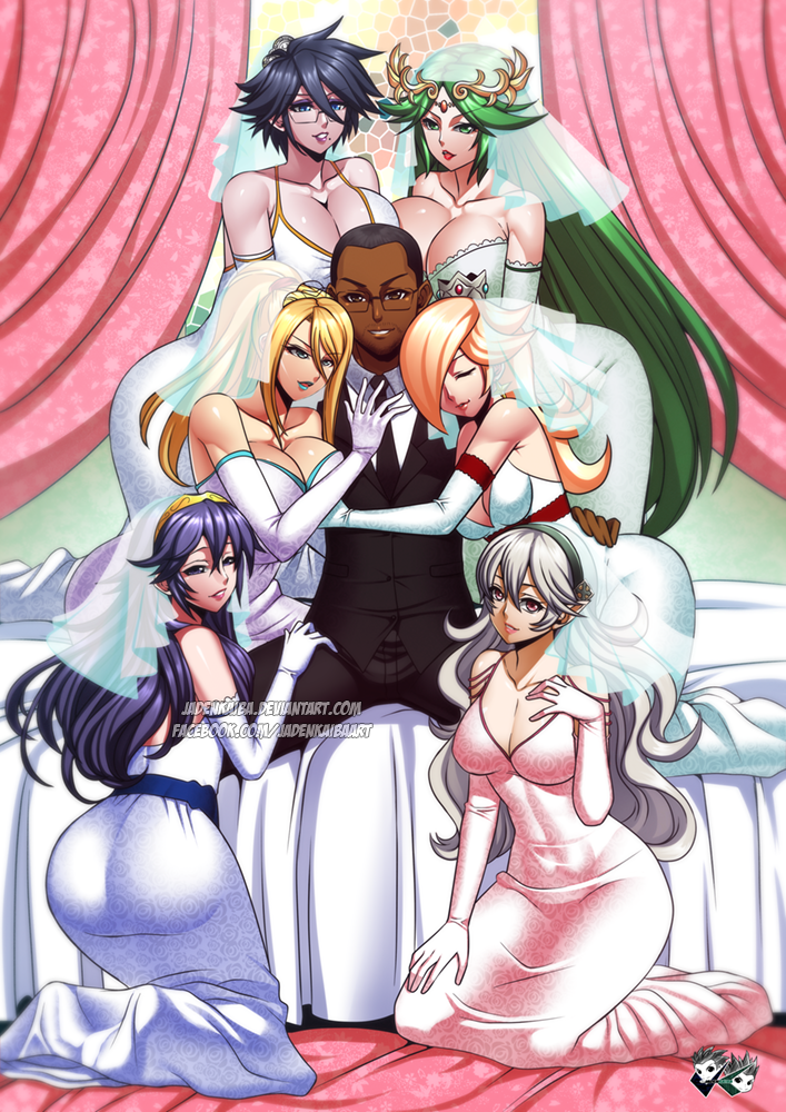 COMMISSION: Smash Girls Harem by jadenkaiba