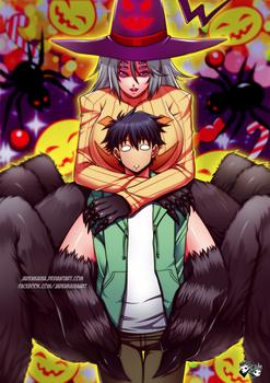 COMMISSION : Kriia X Kimihito Halloween