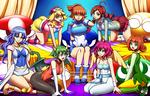 COMMISSION : Puyo Puyo Girls Harem