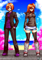 COMMISSION : Sigal and Velvet by jadenkaiba