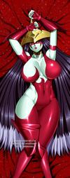 COMMISSION: EHERO Burst Lady Dakimakura Front Ver by jadenkaiba