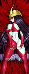 COMMISSION: EHERO Burst Lady Dakimakura Back Ver by jadenkaiba