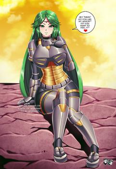 COMMISSION: Palutena  Battle Armor