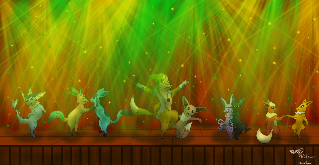 The Grand Eeveelutions Dance by Threehorn