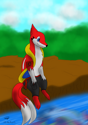 Phoenix relaxing by Threehorn