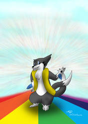 Luna Flint on the Rainbow Road by Threehorn
