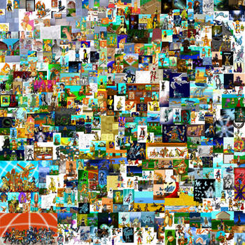 1000th - Mega Collage by Threehorn