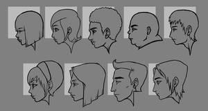 Teenage Profiles Lineart by dark-maggot