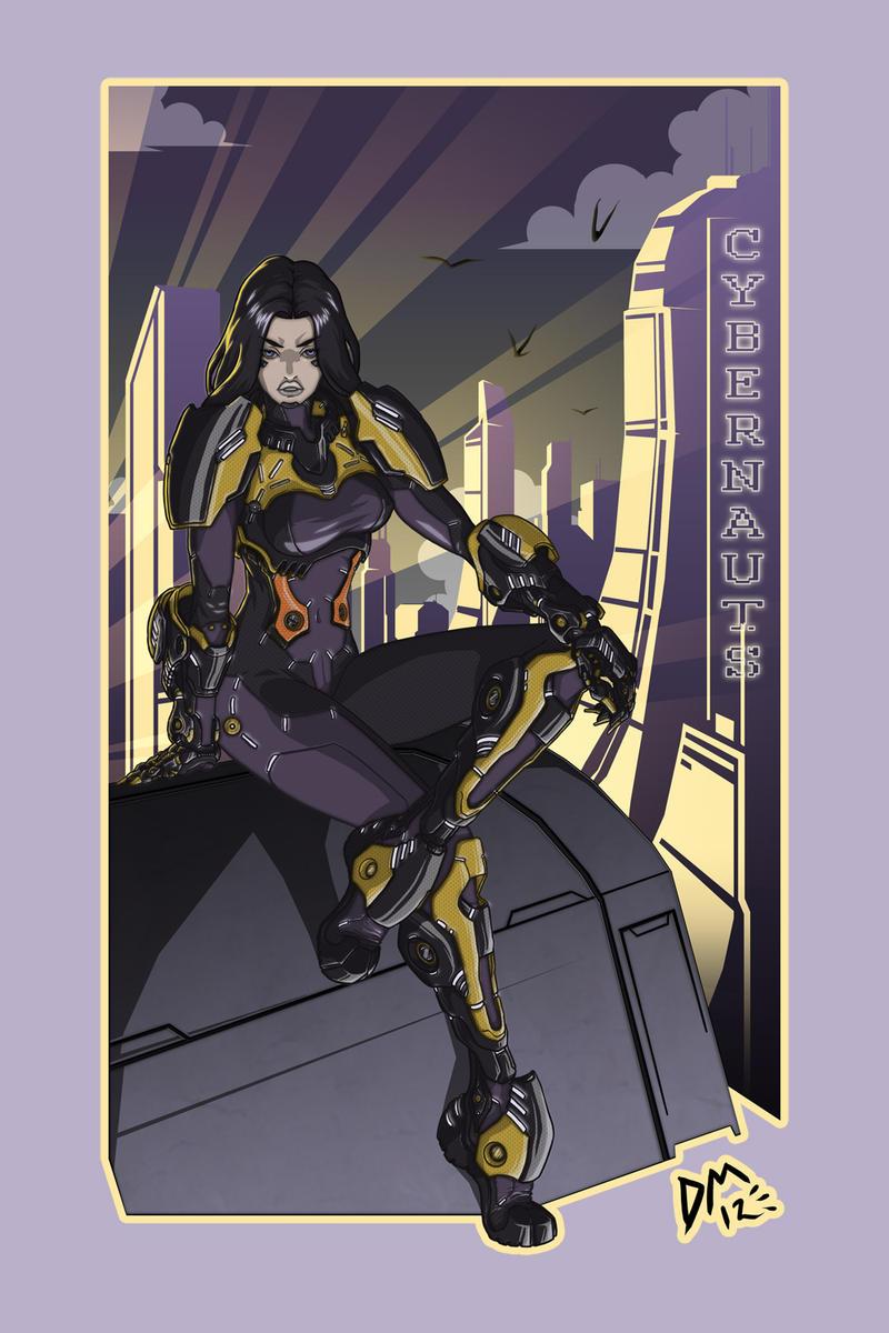 Cyber Babe by dark-maggot