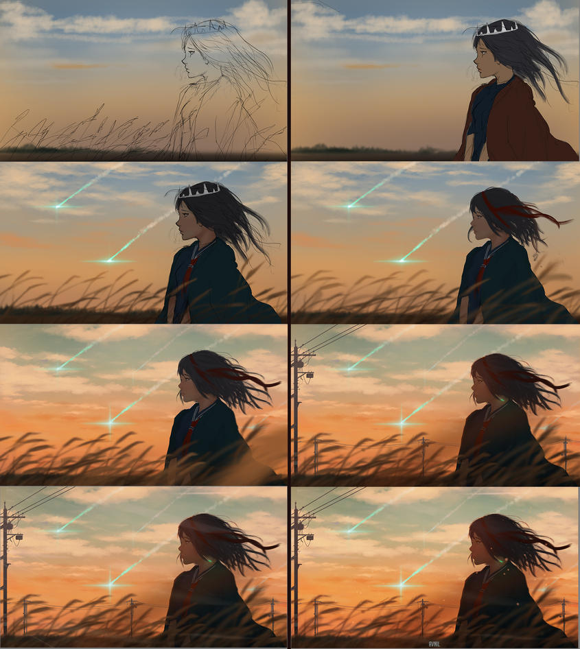 Sunsets Process by Avnil