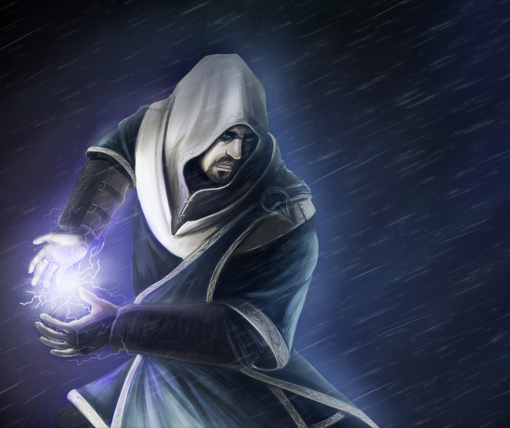 Lightning Mage by Argent-SkyLightning Wizard
