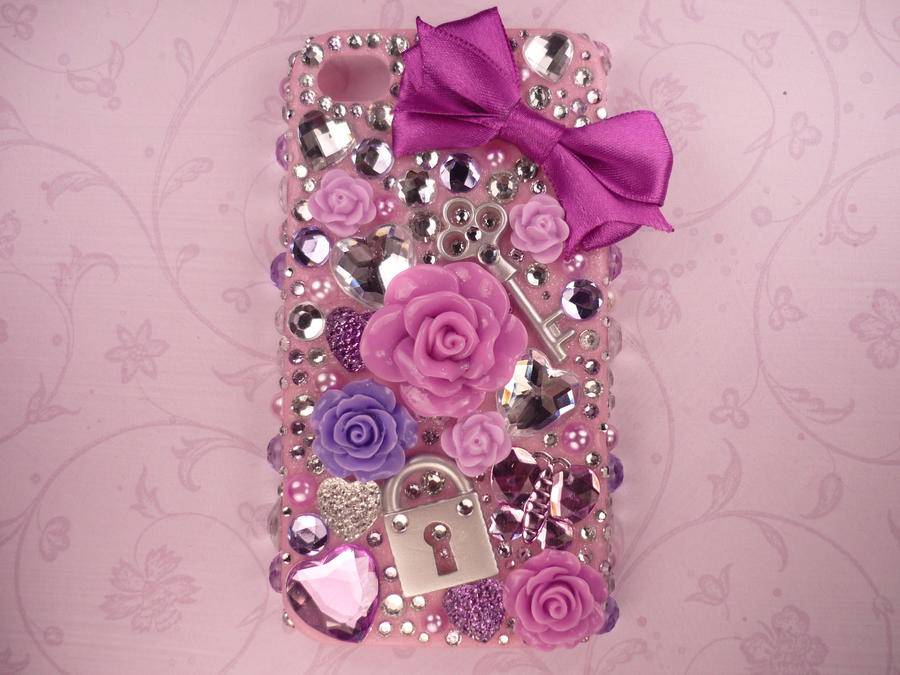 Case Design sparkle phone cases Iphone 4s Cases Bling Purple deco bling iphone 4/4s